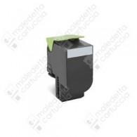 Toner Compatibile LEXMARK 802SK - 80C2SK0 - Nero - 2.500 Pagine