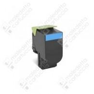 Toner Compatibile LEXMARK 802SC - 80C2SC0 - Ciano - 2.000 Pagine