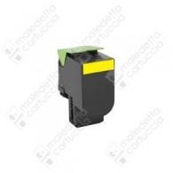 Toner Compatibile LEXMARK 802SY - 80C2SY0 - Giallo - 2.000 Pagine