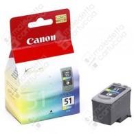 Cartuccia Originale CANON CL-51 - 0618B001 - Colori - 3 x 7ml - 545 Pagine
