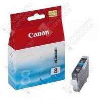Cartuccia Originale CANON CLI-8C - 0621B001 - Ciano - 13ml - 965 Pagine