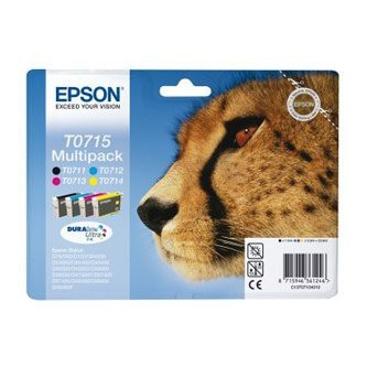 Cartuccia Originale EPSON T0715 - C13T07154010 - C/M/Y/BK - Ghepardo Multi Pack - 23.9ml