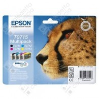 Cartuccia Originale EPSON T0715 - C13T07154010 - C/M/Y/BK - Ghepardo Multi Pack - 23.9ml