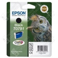 Cartuccia Originale EPSON T0791 - C13T07914010 - Nero - Gufo - 11.1ml