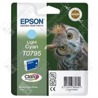 Cartuccia Originale EPSON T0795 - C13T07954010 - Ciano Light - Gufo - 11.1ml