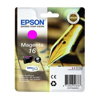 Cartuccia Originale EPSON 16,T1623 - C13T16234010 - Magenta - Penna e Cruciverba - 3.1ml