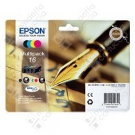 Cartuccia Originale EPSON 16,T1626 - C13T16264010 - C/M/Y/BK - Penna e Cruciverba Multi Pack - 5.4ml + 3 x 3.1ml