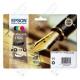 Cartuccia Originale EPSON 16XL,T1636 - C13T16364010 - C/M/Y/BK - Penna e Cruciverba Multi Pack - 12.9ml + 3 x 6.5ml