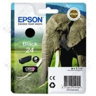 Cartuccia Originale EPSON 24,T2421 - C13T24214010 - Nero - Elefante - 5.1ml