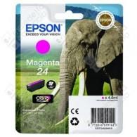 Cartuccia Originale EPSON 24,T2423 - C13T24234010 - Magenta - Elefante - 4.6ml