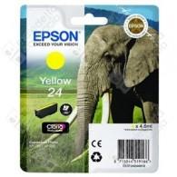 Cartuccia Originale EPSON 24,T2424 - C13T24244010 - Giallo - Elefante - 4.6ml