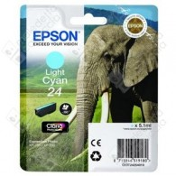 Cartuccia Originale EPSON 24,T2425 - C13T24254010 - Ciano Light - Elefante - 5.1ml