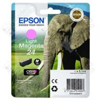 Cartuccia Originale EPSON 24,T2426 - C13T24264010 - Magenta Light - Elefante - 5.1ml