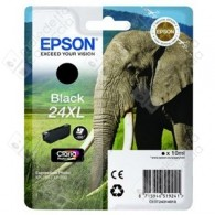 Cartuccia Originale EPSON 24XL,T2431 - C13T24314010 - Nero - Elefante - 10ml