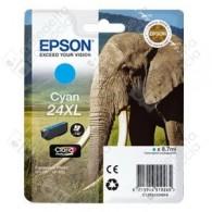 Cartuccia Originale EPSON 24XL,T2432 - C13T24324010 - Ciano - Elefante - 8.7ml