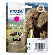 Cartuccia Originale EPSON 24XL,T2433 - C13T24334010 - Magenta - Elefante - 8.7ml