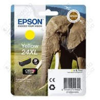 Cartuccia Originale EPSON 24XL,T2434 - C13T24344010 - Giallo - Elefante - 8.7ml