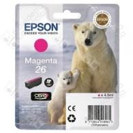 Cartuccia Originale EPSON 26,T2613 - C13T26134010 - Magenta - Orso Polare - 4.5ml