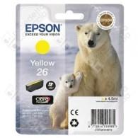 Cartuccia Originale EPSON 26,T2614 - C13T26144010 - Giallo - Orso Polare - 4.5ml