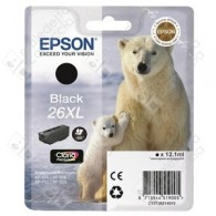 Cartuccia Originale EPSON 26XL,T2621 - C13T26214010 - Nero - Orso Polare - 12.2ml