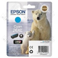 Cartuccia Originale EPSON 26XL,T2632 - C13T26324010 - Ciano - Orso Polare - 9.7ml