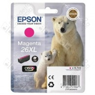 Cartuccia Originale EPSON 26XL,T2633 - C13T26334010 - Magenta - Orso Polare - 9.7ml