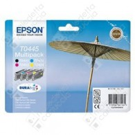 Cartuccia Originale EPSON T0445 - C13T04454010 - Nero + Colori - Ombrellone Multi Pack - 13ml + 3 x 8ml