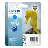 Cartuccia Originale EPSON T0482 - C13T04824010 - Ciano - Cavalluccio Marino - 13ml