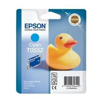 Cartuccia Originale EPSON T0552 - C13T05524010 - Ciano - Paperella - 8ml