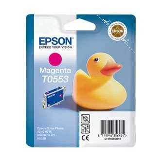 Cartuccia Originale EPSON T0553 - C13T05534010 - Magenta - Paperella - 8ml