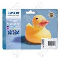 Cartuccia Originale EPSON T0556 - C13T05564010 - C/M/Y/BK - Paperella Multi Pack - 8ml + 3 x 8ml