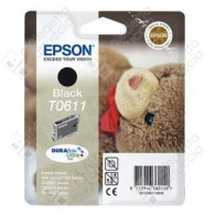 Cartuccia Originale EPSON T0611 - C13T06114010 - Nero - Orsetto - 8ml