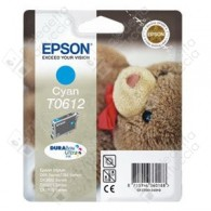 Cartuccia Originale EPSON T0612 - C13T06124010 - Ciano - Orsetto - 8ml
