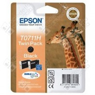 Cartuccia Originale EPSON T0711H - C13T07114H10 - Nero - Giraffa - Dual Pack - 2 x 11.1ml