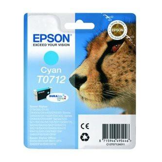 Cartuccia Originale EPSON T0712 - C13T07124011 - Ciano - Ghepardo - 5.5ml