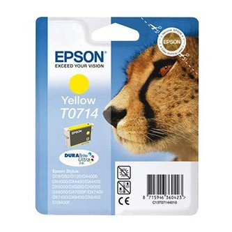 Cartuccia Originale EPSON T0714 - C13T07144011 - Giallo - Ghepardo - 5.5ml