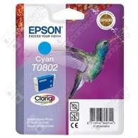 Cartuccia Originale EPSON T0802 - C13T08024011 - Ciano - Colibrì - 7.4ml