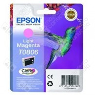 Cartuccia Originale EPSON T0806 - C13T08064011 - Magenta Light - Colibrì - 7.4ml