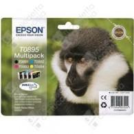 Cartuccia Originale EPSON T0895 - C13T08954010 - Nero + Colori - Scimmia Muti Pack - 5.8ml + 3 x 3.5ml