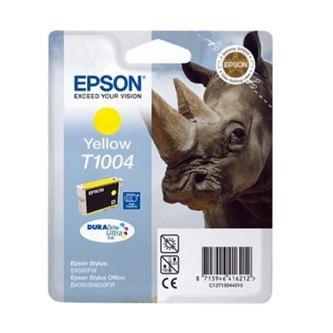 Cartuccia Originale EPSON T1004 - C13T10044010 - Giallo - Rinoceronte - 11.1ml