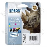 Cartuccia Originale EPSON T1006 - C13T10064010 - Colori - Rinoceronte Multi Pack - 3 x 11.1ml