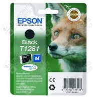 Cartuccia Originale EPSON T1281 - C13T12814011 - Nero - Volpe - 5.9ml