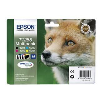 Cartuccia Originale EPSON T1285 - C13T12854010 - C/M/Y/BK - Volpe Multi Pack - 5.9ml + 3 x 3.5ml