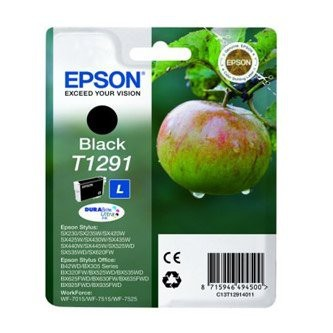 Cartuccia Originale EPSON T1291 - C13T12914011 - Nero - Mela - 11.2ml