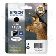 Cartuccia Originale EPSON T1301 - C13T13014010 - Nero - Cervo - 25.4ml