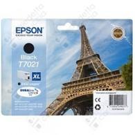 Cartuccia Originale EPSON T7021 - C13T70214010 - Nero - Torre Eiffel - 45.2ml