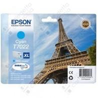 Cartuccia Originale EPSON T7022 - C13T70224010 - Ciano - Torre Eiffel - 21.3ml