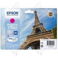 Cartuccia Originale EPSON T7023 - C13T70234010 - Magenta - Torre Eiffel - 21.3ml