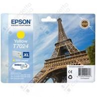 Cartuccia Originale EPSON T7024 - C13T70244010 - Giallo - Torre Eiffel - 21.3ml
