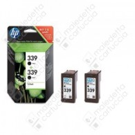 Cartuccia Originale HP 339 - C9504A - Nero - Dual Pack